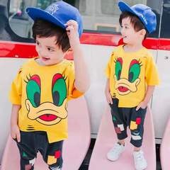 D-baby 2PCS Cool Baby Boy Summer Clothing Set Toddler Outfit Shirt+Pants Outfits Set Clothes LQ002A 90CM