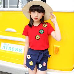 D-baby 2PCS Fashion Girl Printed Top + Short Pants Suit, Fashion Suit, Girl Suit BT001B 110(100cm)