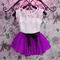 D-baby Summer Girls Clothing Sets Kid Girl Outfits Clothes T-shirt Tops+Skirt 2PCS Sets Kids Clothes XQ022D 150(135cm)