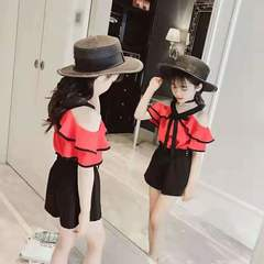D-baby 2PCS Fashion Girl Top + Short Pants Suit, Fashion Suit, Girl Suit SE001A 2.5-3.8Y