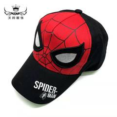 D-baby Spider-Man Super-Man 4-13Y children's net hat summer new cartoon children's sunshade hat 1 52-54CM(4-13Y)