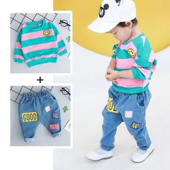 D-baby Autumn kids,boy,girls clothes suit girl kids lovely T-shirt + trousers two-piece set 1 (80cm)