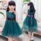 D-baby New fashion girl's princess dress, flower lace tutu dress, princess dress JC001A 110(100cm)
