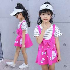 D-baby Promotion Clearance Baby Girl Dress Kids Teenagers Short Sleeve Print Pattern Dresses 2A 130(120cm)