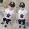 D-baby 2pcs Boys Clothes Star Printed Kids top+Shorts Suits Casual Cotton Children Clothing LQ001A royalblue 110cm