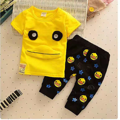 D-baby Hot New Fashion Baby Boys Clothes Set Cotton Material Infant Clothing Set NZ001A 80(75cm)
