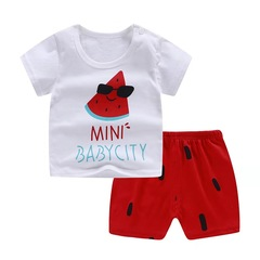 D-baby  Pure Cotton Kids Boy Toddler Shirt Top+Shorts Overalls Set Outfit 2Pcs DZ001J. 75(120cm)