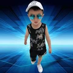 D-baby 2pcs Hot Boys 1-7Y Clothes Set Printed Kids top+Shorts Suits Casual Children Clothing Set NZ010B 90(85cm)