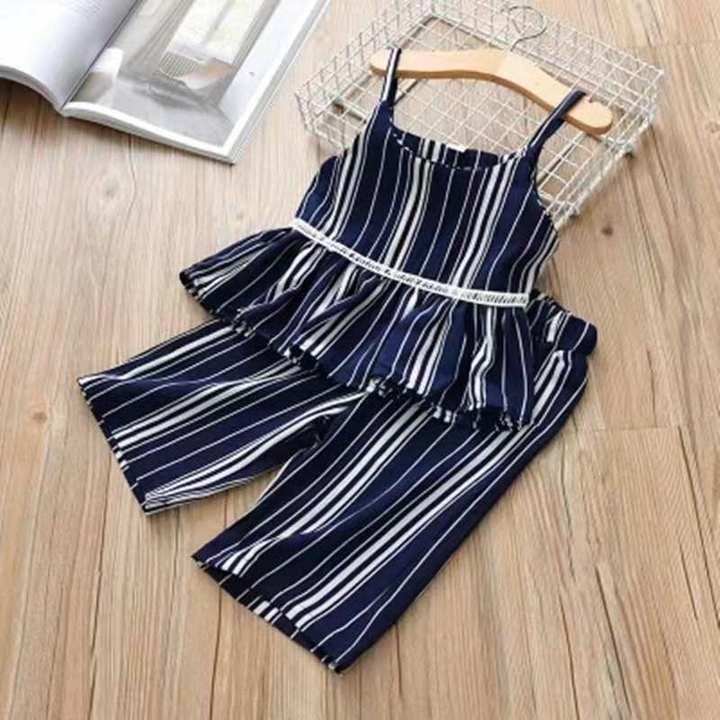 D-baby Kids wear Girl's suit vest + trousers + Children's clothes set XQ018A 100(90cm)
