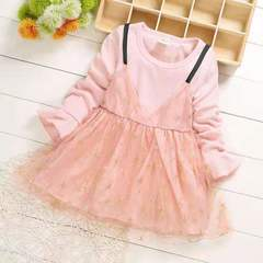 D-baby Princess Kids Baby Girl Dress Lace Floral Party Dress Gown Bridesmaid Dresses t m(75cm)
