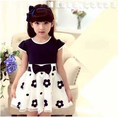 D-baby 1PC Flower Dress Girl Princess Costume Dresses Girl Party Wear Tulle Kids Children dress HM003C 110(100cm)