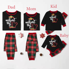 D-baby 2019 Christmas Family Pajamas Set Family Look Matching Navidad Family Matching Clothes A 50(3-6m )Baby