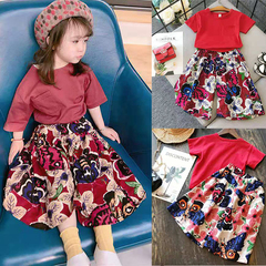 D-baby New Fashion Toddler Kids Baby Girls Tops+Flower Loose Pants Set Outfits Clothes JG003A 7(80-90cm)