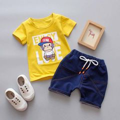 D-baby Hot New Fashion Baby Boys Clothes Set Cotton Material Infant Clothing Set DI002D 80(75cm)
