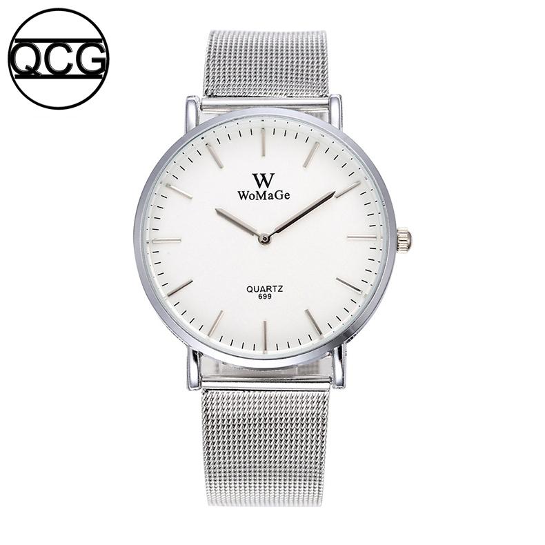 c9e281fc2 QCG womens watch Fashion Simple quartz watch Ultra-thin stainless ...