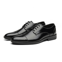 business shoes men oxford leather italian office shoes men elegant coiffeur formal shoes Black 39