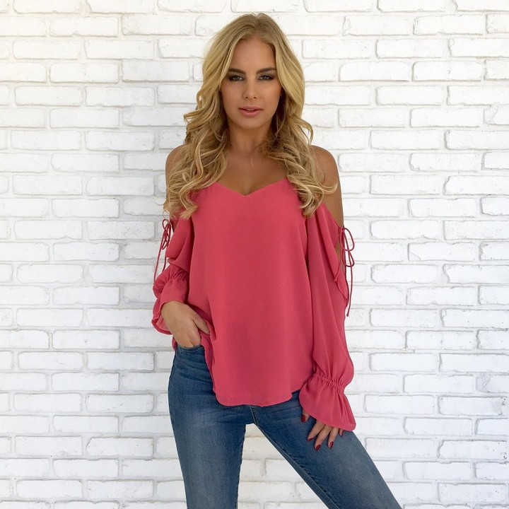 New 2019 Summer Chiffon Shirt Autumn Style Women Blouse Sexy White Red Pink Gray Black Tops Party Girls Blusas Shirts Tops & Tees Camis