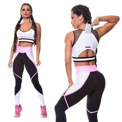 New sports casual suit vest trousers sports yoga fitness suit with mobile phone pocket