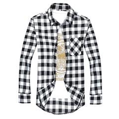 Men's fashion shirt long sleeve shirt brand casual fashion business style plaid shirt 100% cotton