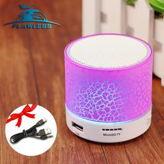 Bluetooth audio card mobile phone computer cannon mini subwoofer wireless led light small speaker purple 3W Model