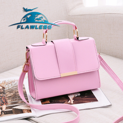 Fashion Women Bag Leather Handbags Shoulder Bag Small Flap Crossbody Bags for Women Messenger Bags pink 20* 15* 6cm