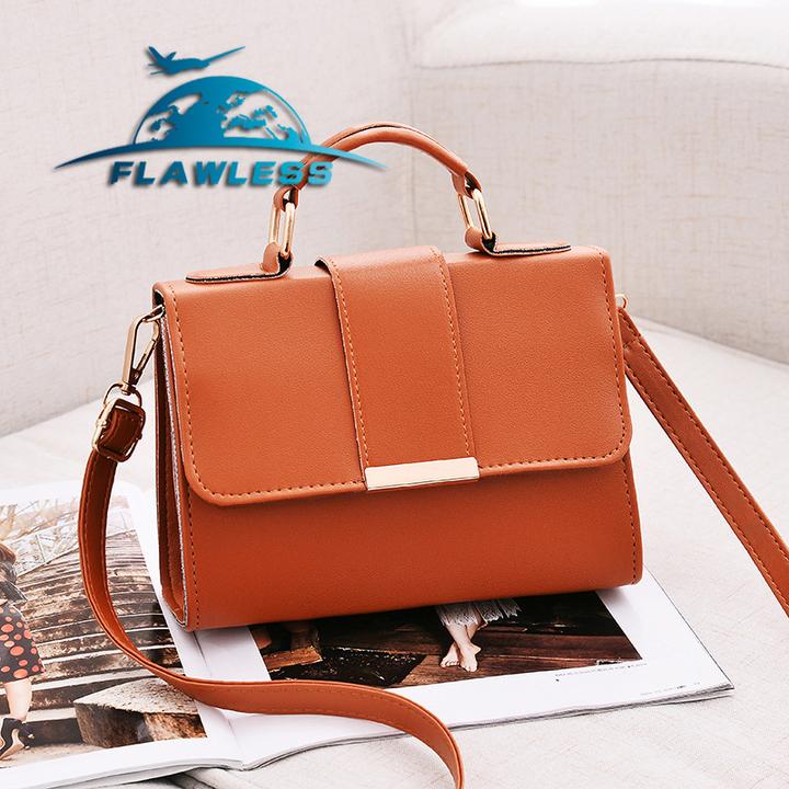Fashion Women Bag Leather Handbags Shoulder Bag Small Flap Crossbody Bags for Women Messenger Bags brown 20* 15* 6cm