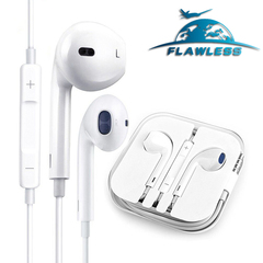 Volume control headset mobile music earbuds stereo gaming headset with microphone white
