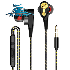 In-ear double-motion running game music headphones HIFI headphones black