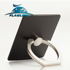 Mobile phone ring bracket square metal lazy ring buckle 360% rotating mobile phone bracket black One size Model Storage