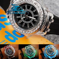 Couples Watch Illuminated lighting Quartz Watch Mens Ladies casual Fashion Sport Clock black