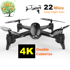 SG106 4K HD Dual Camera RC Drone Real Time Aerial Video Quadcopter WIFI FPV Helicopter Aircraft Toys Black 720P camera with 1 x battery