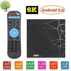 T95 Max Android 9.0 Smart TV Box 4G 64G Allwinner H6 6K HDR WiFi Google Player T95MAX Set Top Box T95 MAX 4GB RAM + 64GB ROM
