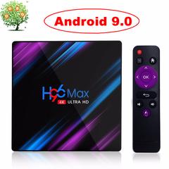 H96 Max Android 9.0 Smart TV Box RK3318 4K UHD 4G 64G Set top Box 5G Dual WiFi Media Player USB3.0 H96 MAX 4GB RAM + 64GB ROM