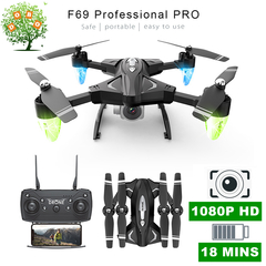 F69 1080P Wide Angle Camera RC Drone WiFi FPV Aerial photo Quadcopter Helicopter Dron Aircraft Toys 1080P Wide-angle Camera F69