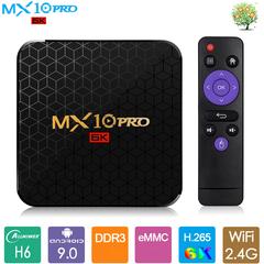 Android 9.0 Smart TV Box MX10 PRO Allwinner H6 4G 64G Set top Box UHD 6K 4K H265 USB3.0 Media Player MX10 PRO H6 2GB RAM + 16GB ROM