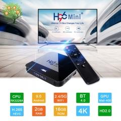 H96 Mini H8 Android 9.0 Smart TV Box RK3228A 2G 16G Set top Box 2.4G&5G Dual Wifi 4K BT Media Player H96 MINI H8 2GB RAM + 16GB ROM