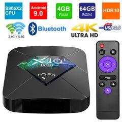 R-TV BOX X10 PRO S905X2 Android 9.0 Smart TV Box 4G 64G Set top Box 5G Dual WIFI 3D 4K Media Player 4GB RAM + 64GB ROM R-TV Box X10 Pro