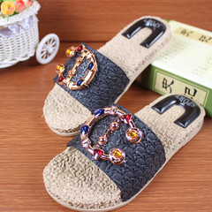 Shoes Sandals Women Slippers Ladies Beach Slippers Women Slip-resistant Sandals For Women black 36