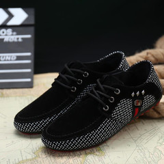 Shoes Men Breathable Men's Leisure Leather Shoes British Leisure Shoes For Men Shoe black 39