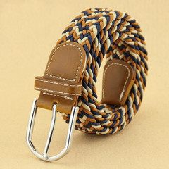 Belts Women Belts Men Elastic Women's Belt Tightening Canvas Belt Leisure Knitting Men's Belt