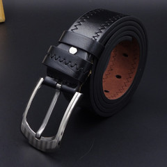 Belts Men And Women Belts Belt Men And Women Fashion Leisure PU Needle Buckle Belt black