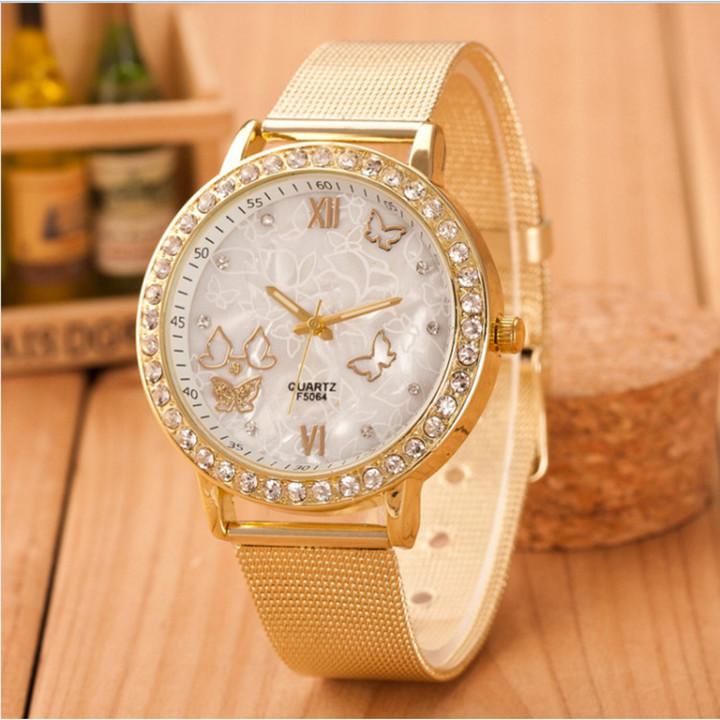 Watches Watche Watchs Watched Watches Women Watch Ladies Geneva Golden Butterfly Diamond Watche gold