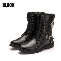 Boots Men Shoes Men Boots Fashion Martin Boots Men's Short Boots High Boots For Men Shoes For Men black 39