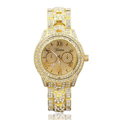 Watches Ladies Watches Women Geneva Women's Gold-Plated Fully Studded Watch Women Watch Ladies gold