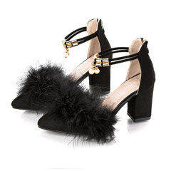 Heels Ladies Heels Women Shoes Women High-heeled Shoes With Pointed Suede And High-heeled Shoes black 35