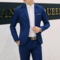 Suits Men Suits Mens Suit Jacket Men Coat suit(Clothes + trousers) clothing Men Suits For Men cyan M