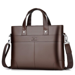 Men's Bag Handbag Men's Briefcase Business Leisure Single Shoulder Slant Computer Handbag brown normal