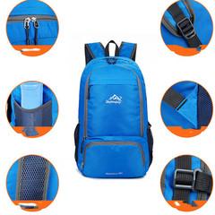 Bags Folding Backpack Waterproof Rucksack Casual Travel Bag Student School Bag Shoulder Bag Blue normal