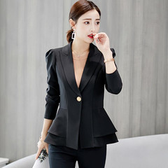 Suits Ladies Suit Jackets Women Professional Suits Button-down Women's Suits Clothes Women black M