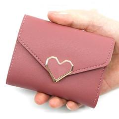 Wallets Women Short Wallets Ladies Three folds Hand Women's Wallet Multi-card Bags Women brown normal
